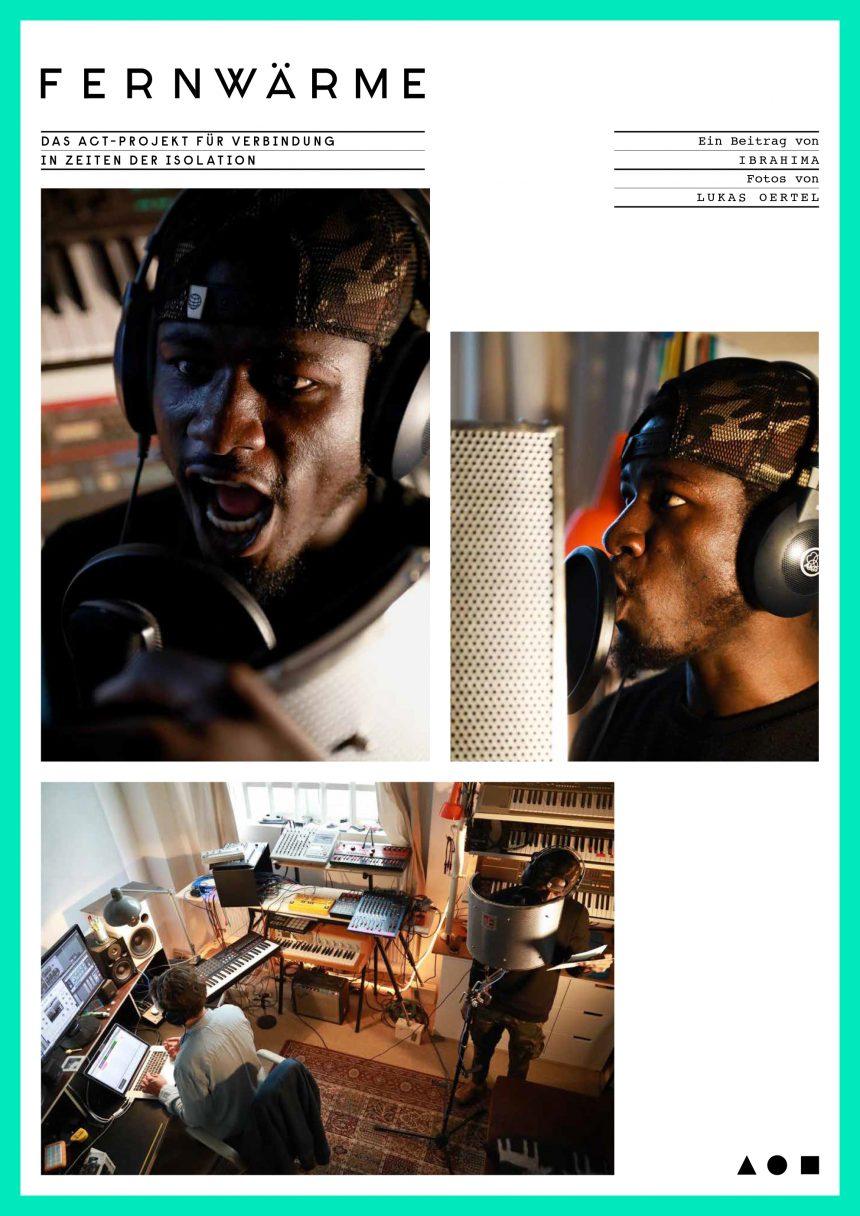 Ibrahima im Tonstudio